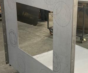 Гибка массивных деталей. Нержавеющая сталь 6 мм. Вес - 130 кг