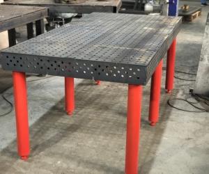 Сварочный стол 16 система 1000х2000: лазерная резка 10мм сталь 09Г2С